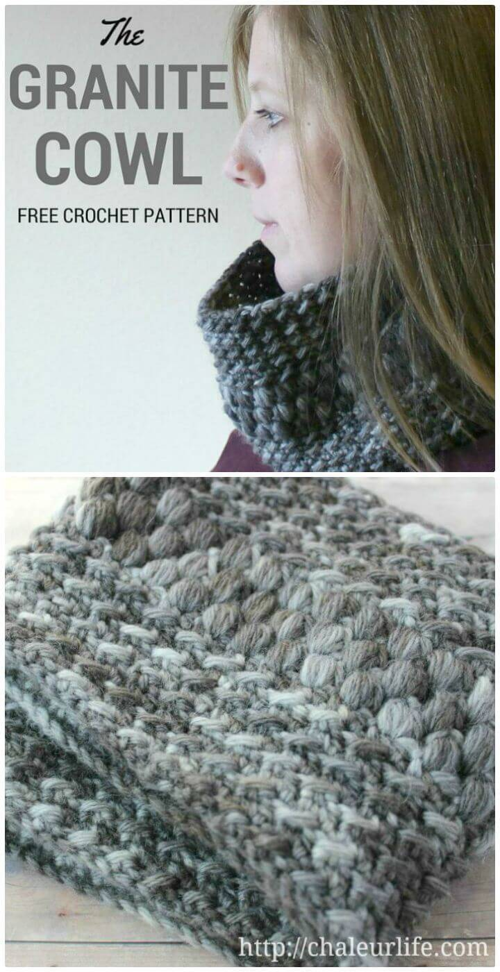 Crochet Granite Cowl - Free Pattern