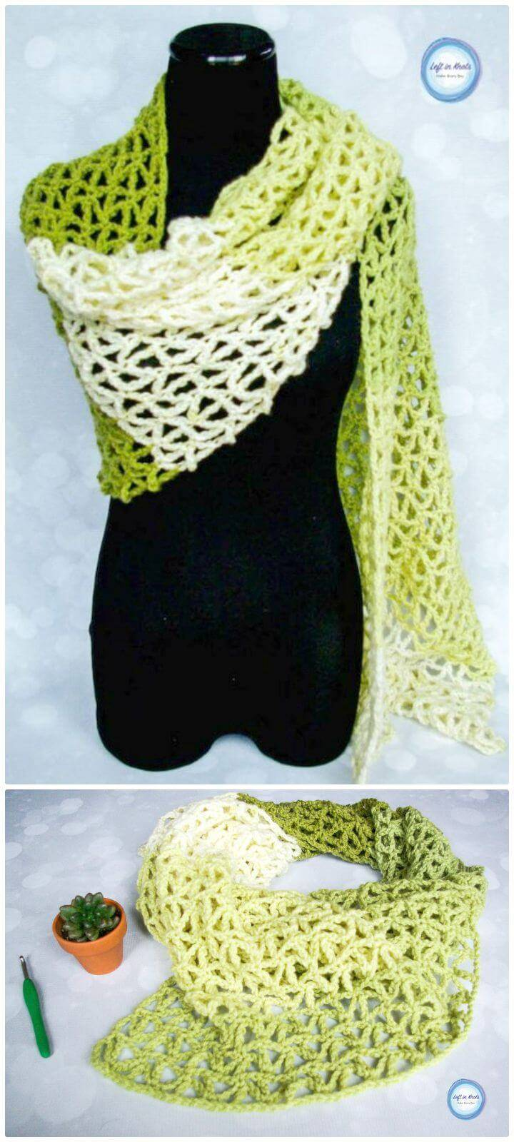 How To Free Crochet Greenery Wrap Pattern - Caron Cakes Yarn