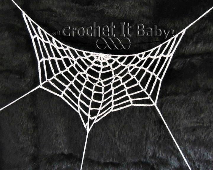 Easy Free Crochet Half Spiderweb Pattern