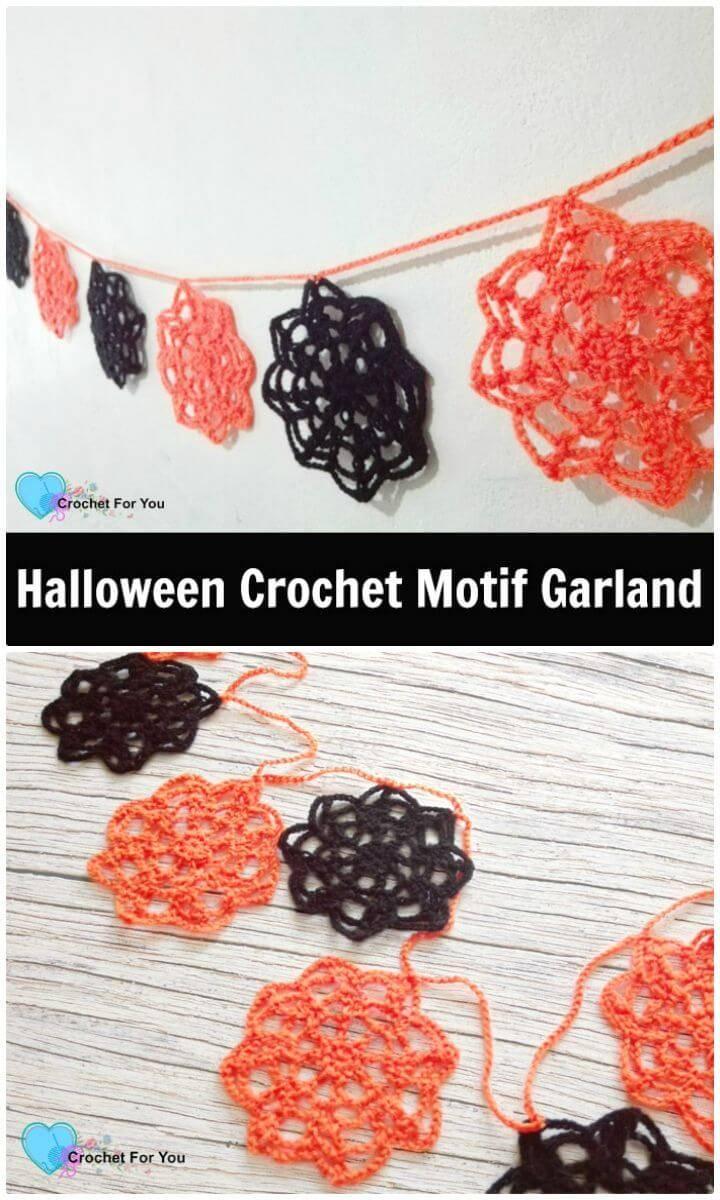 Crochet Halloween Motif Garland - Free Pattern