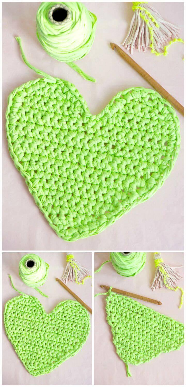 Easy Free Crochet I Heart Valentine Pattern