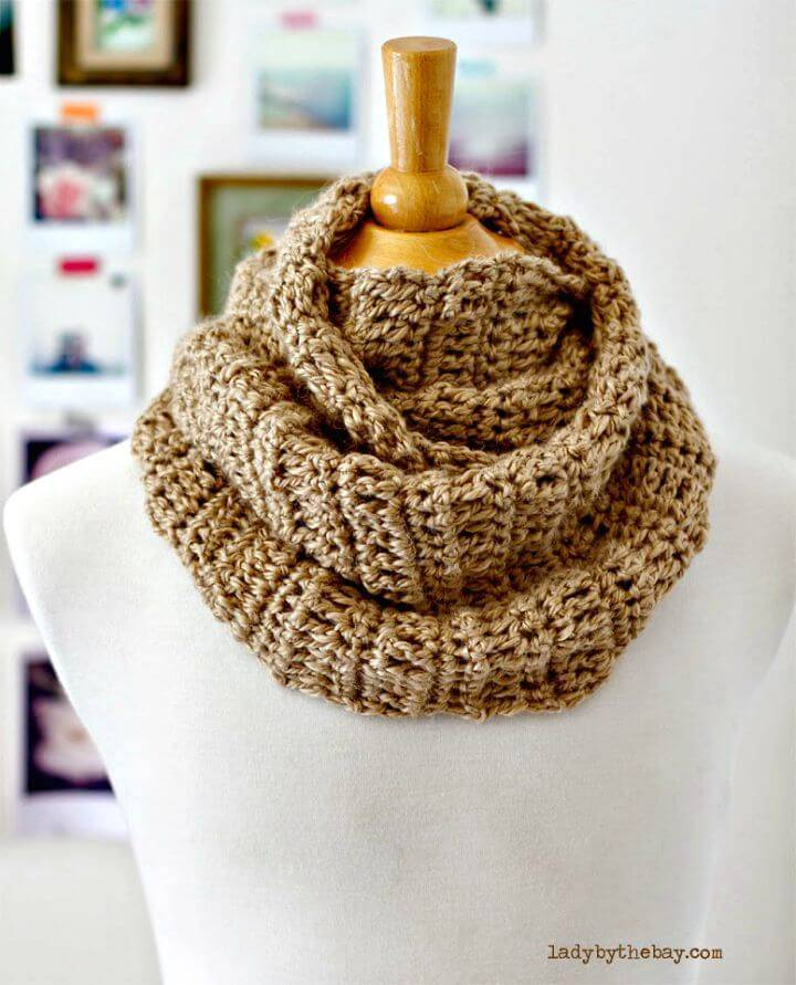 How To Free Crochet Infinity Scarf In 4 Hours Pattern