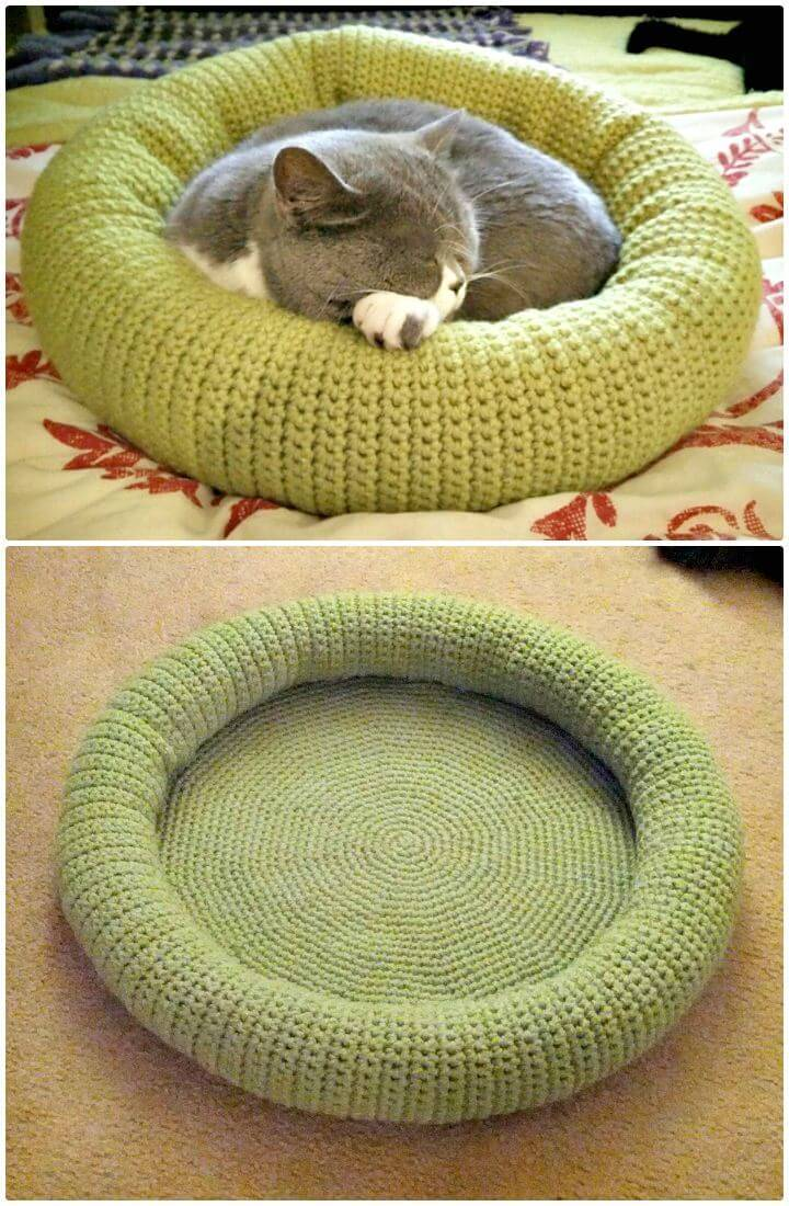 How To Free Crochet Kitty Bed Pattern