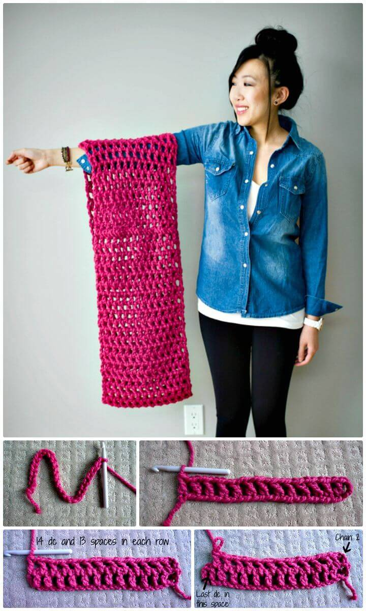 Free Crochet Long Double Cowl Pattern