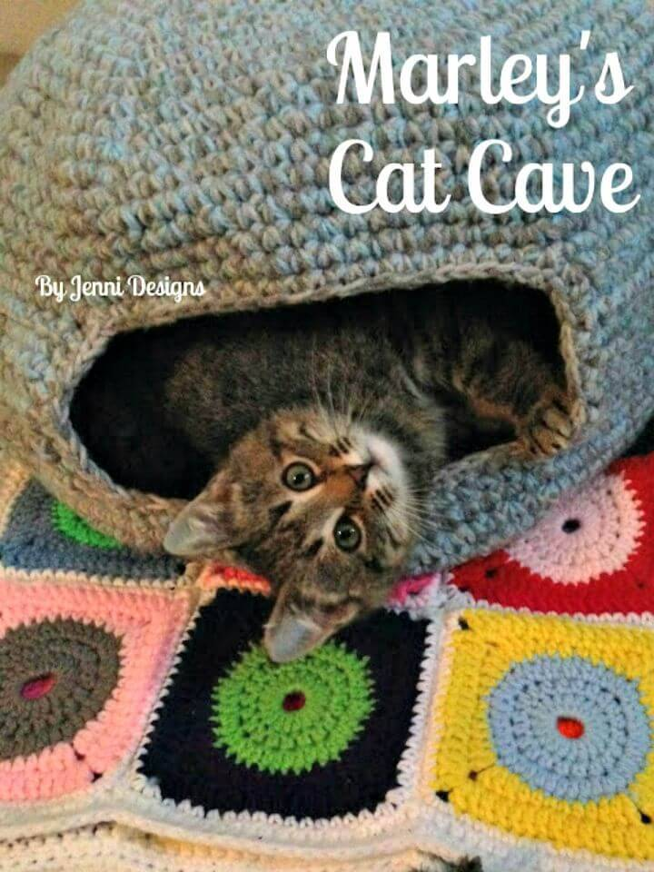 Free Crochet Marley's Cat Bed Pattern