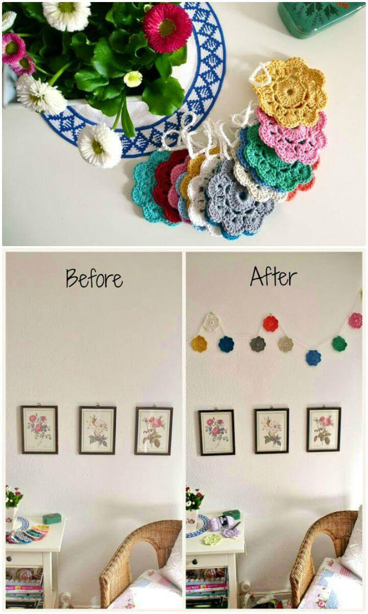 Free Crochet Maybelle Flower Garland