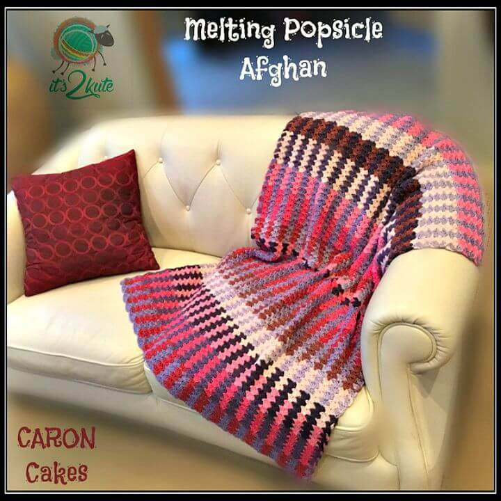 How To Free Crochet Melting Popsicles Afghan Pattern