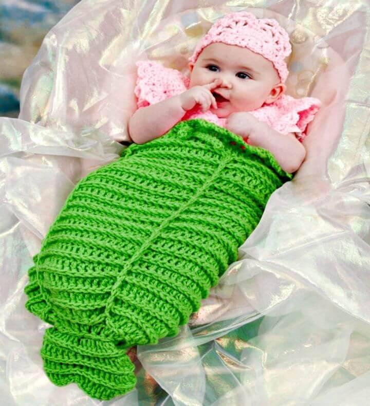 Free Crochet Mermaid Cocoon Pattern