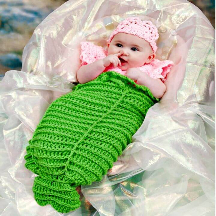 Easy Free Crochet Mermaid Cocoon Pattern