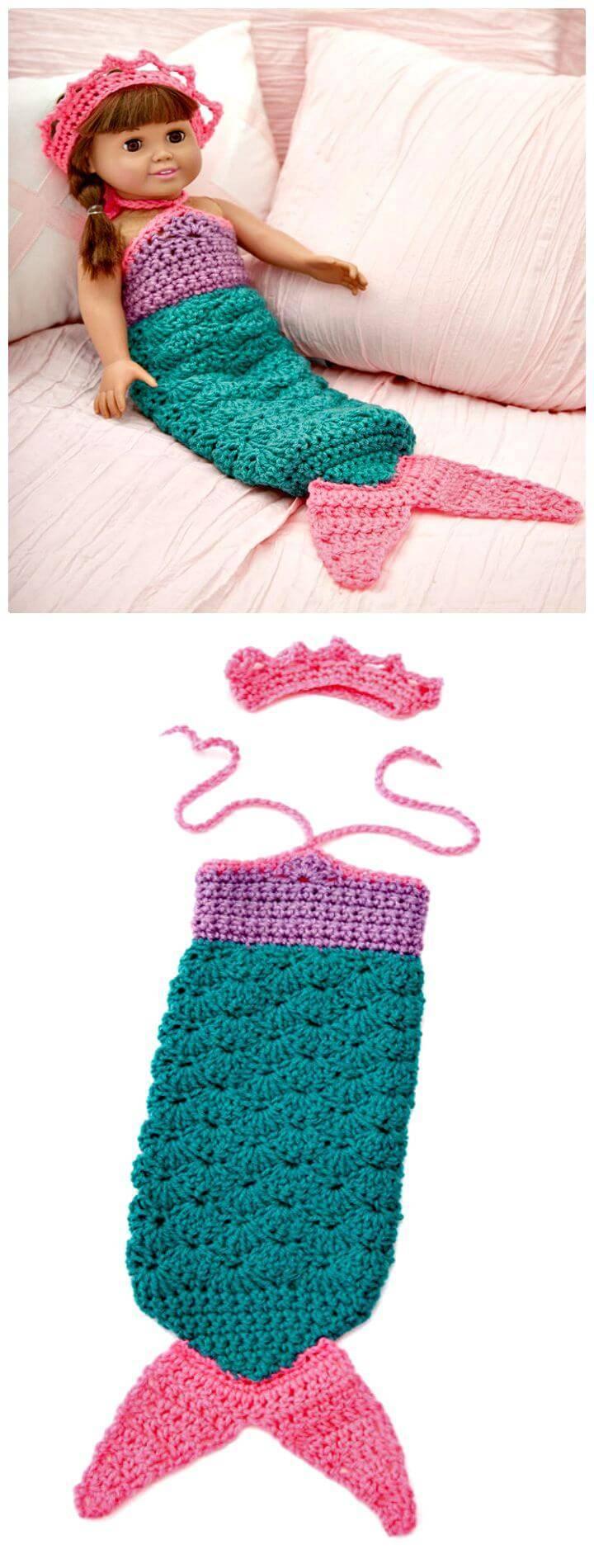 Free Crochet Pattern For Baby Mermaid Cocoon Custom Inspiration Ideas