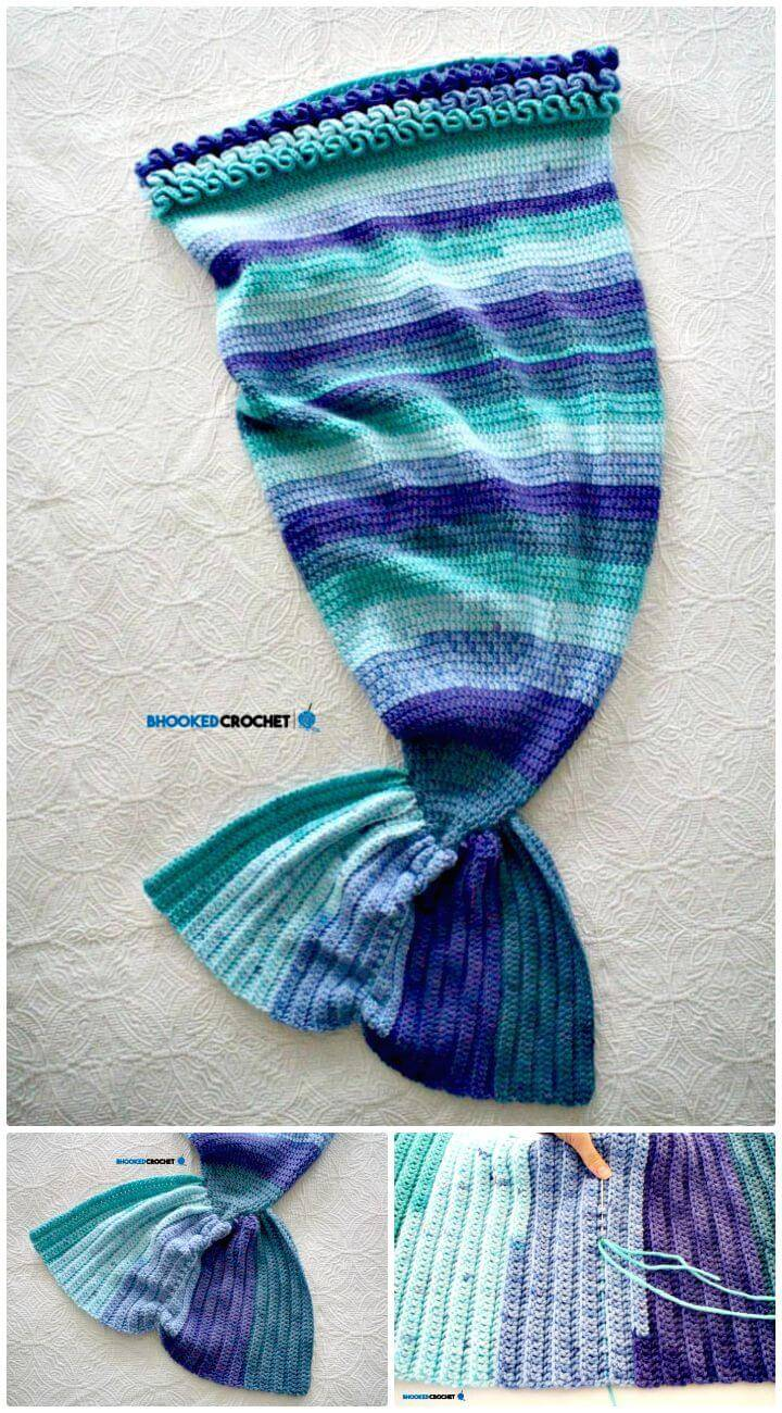 How To Free Crochet Mermaid Tail Baby Through Adult Sizes Pattern