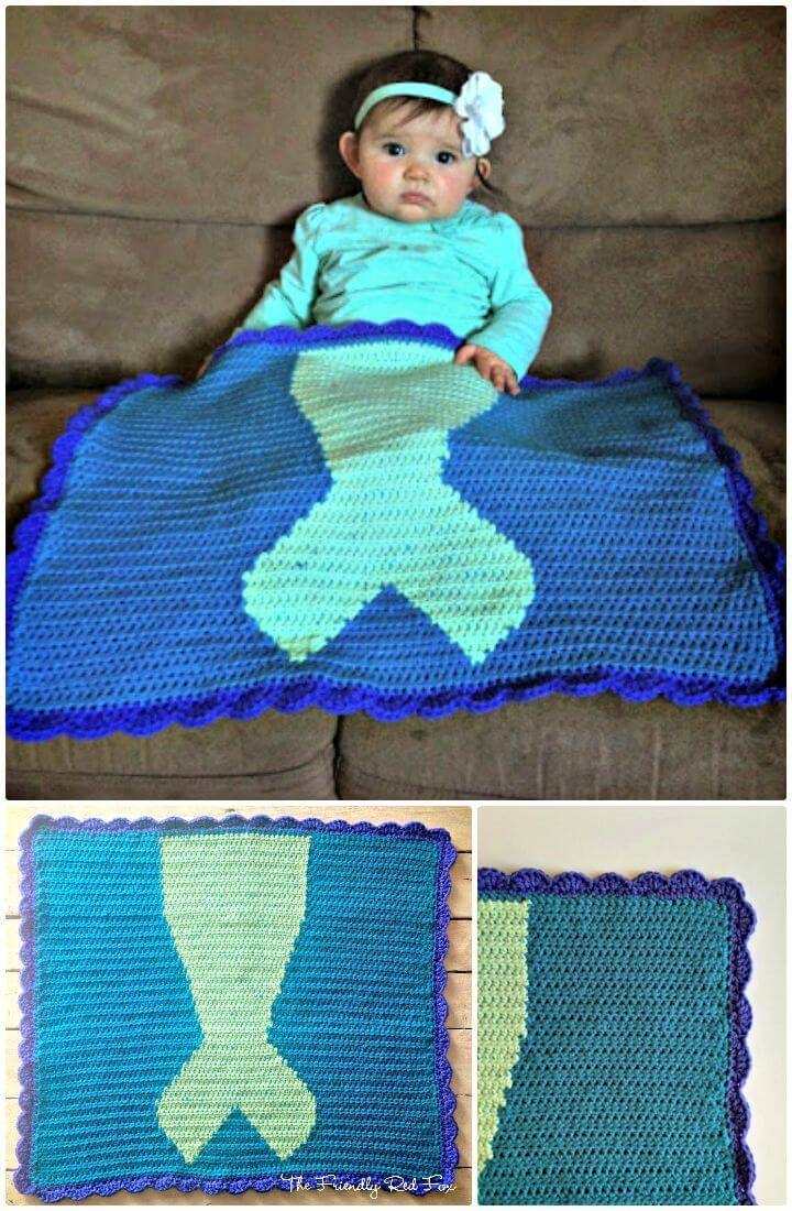 How To Free Crochet Mermaid Tail Blanket Pattern