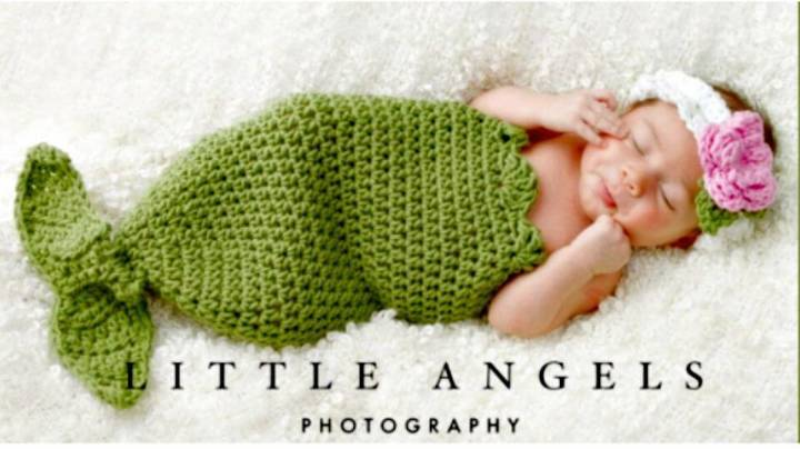 Free Crochet Mermaid Tail Cocoon And Headband Pattern