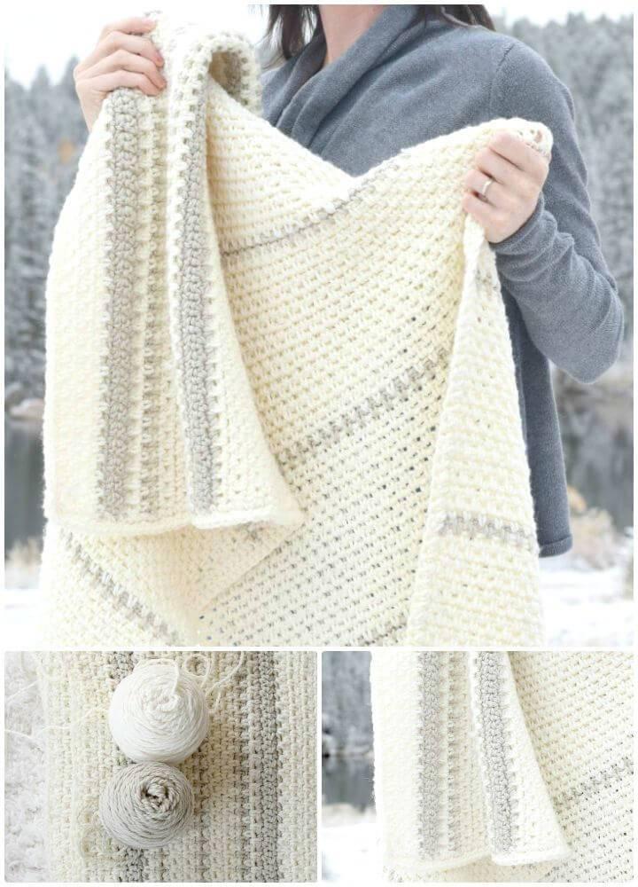 Free Crochet Mod Heirloom Afghan Blanket Pattern