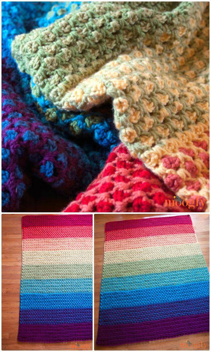How To Free Crochet Moroccan Tile Afghan Pattern