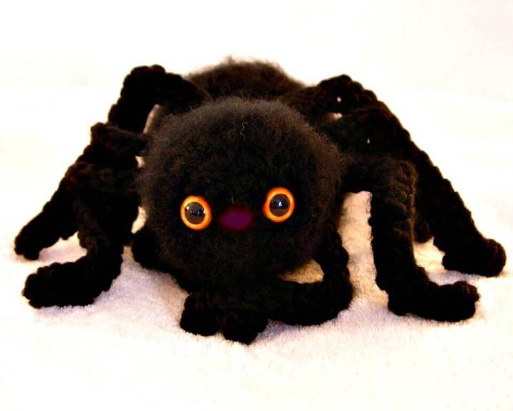 Easy Free Crochet My Big Fuzzy Spider Pattern