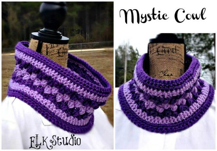 Easy Free Crochet Mystic Cowl Pattern