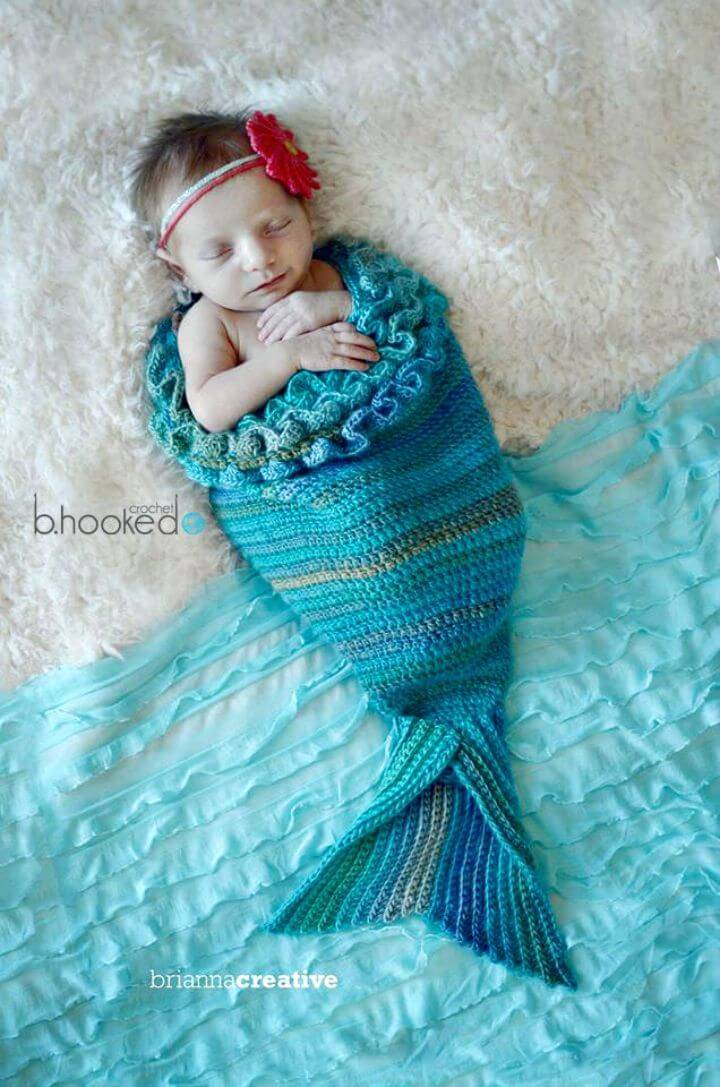 Easy How To Free Crochet Mystic Mermaid Baby Cocoon Pattern