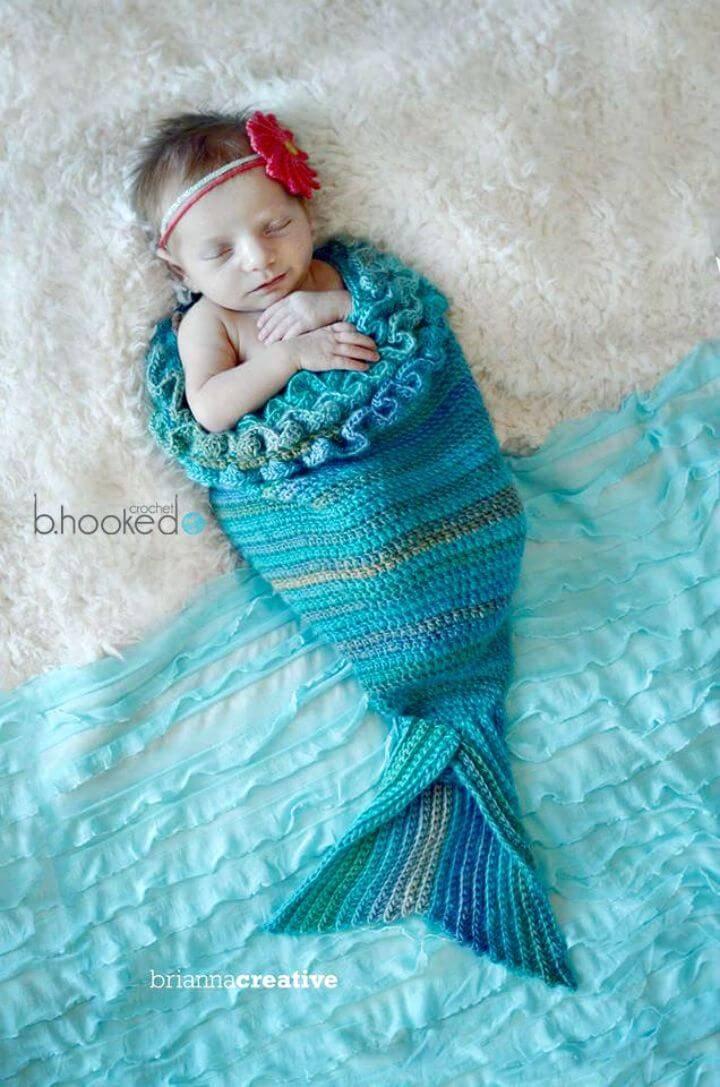 Easy Crochet Mystic Mermaid Cocoon Tail - Free Pattern