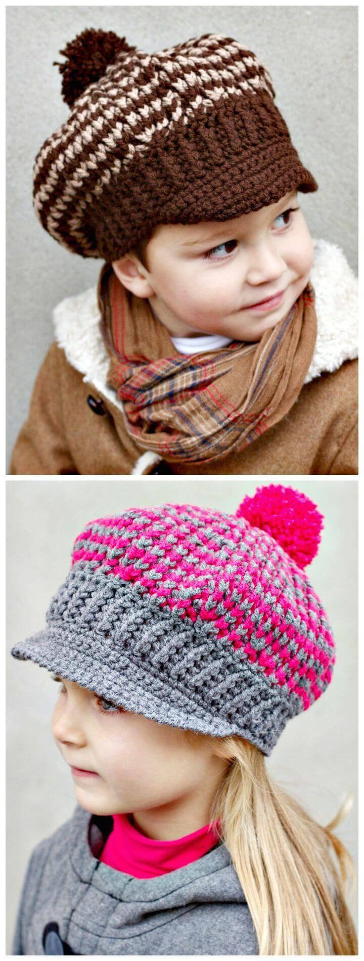 Crochet Newsboy Or Newsgirl Hat Pattern