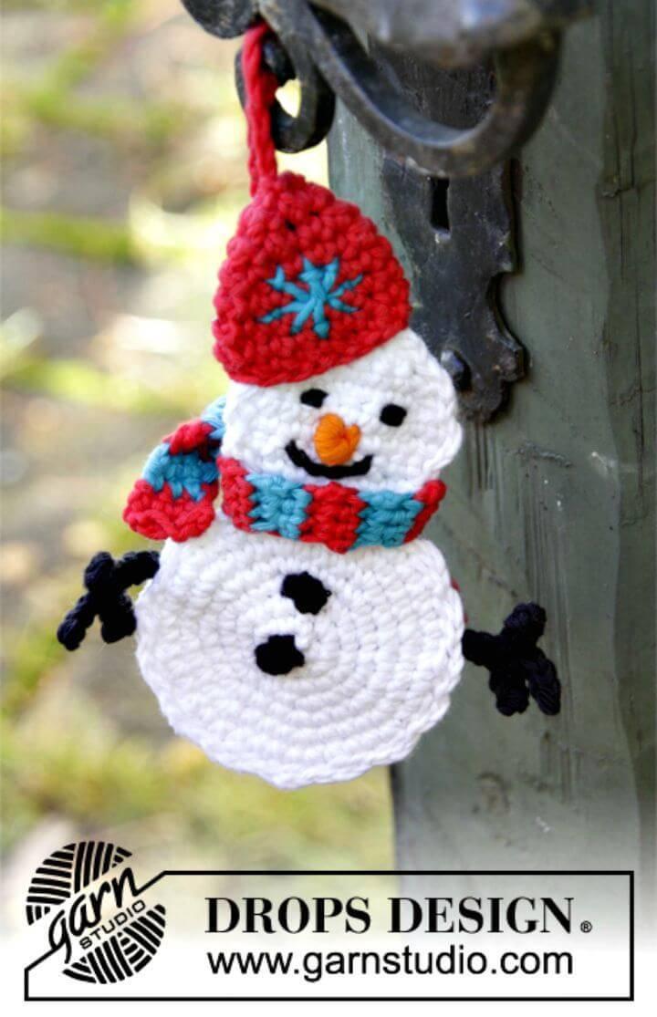 Free Crochet Olaf Snowman Pattern