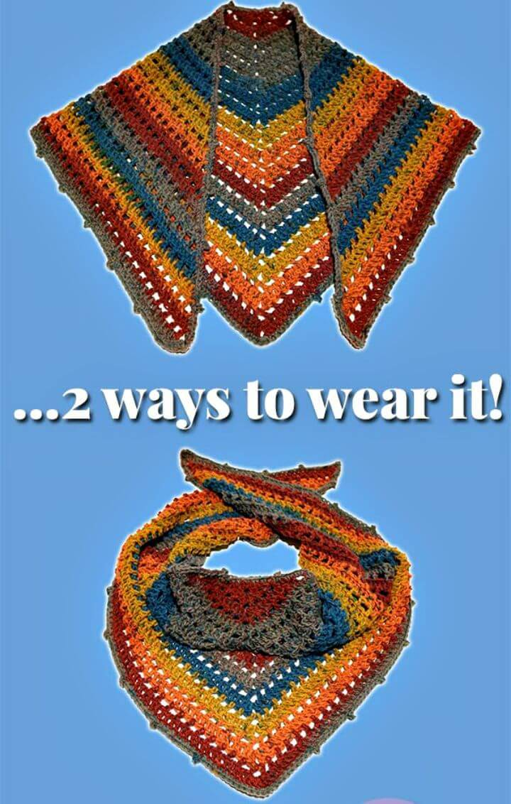"How To Free Crochet One ""Big Cake"" Shawl Scarf Pattern"