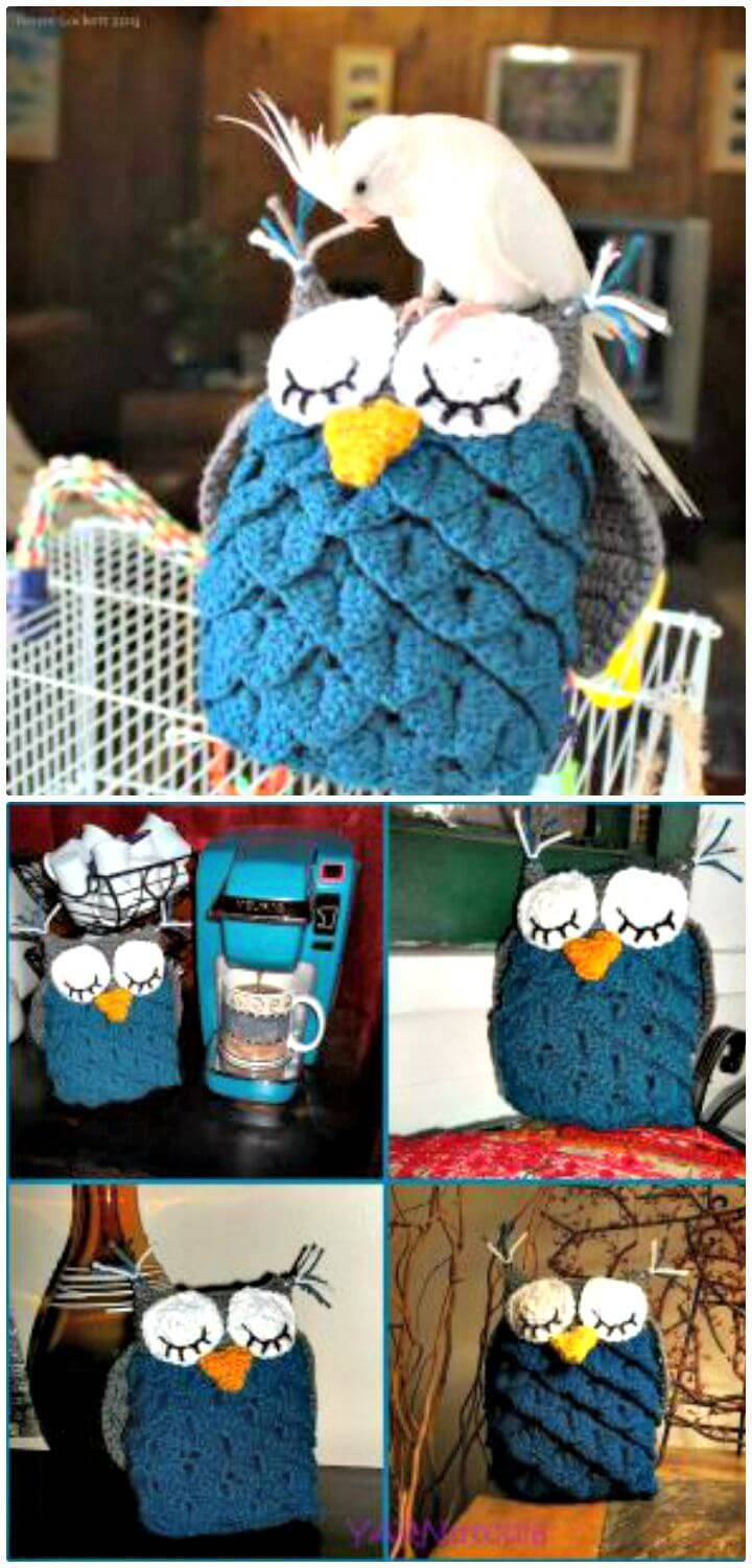 Crochet Owl Amigurumi Using The Crocodile Stitch - Free Pattern