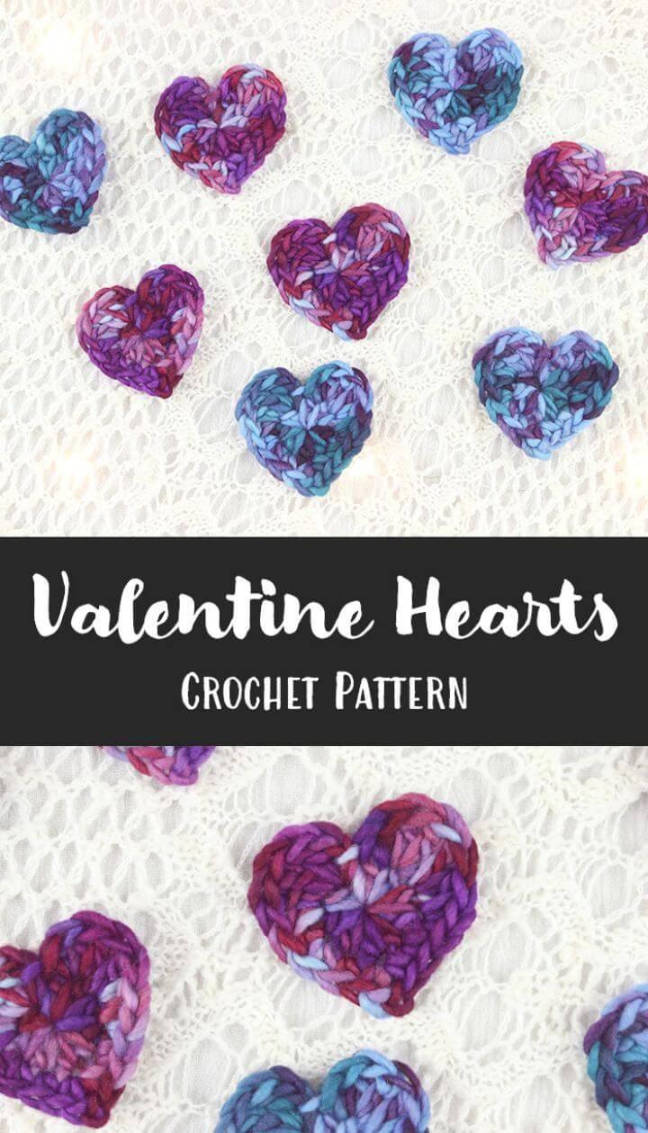 Free Crochet Valentine Hearts Pattern