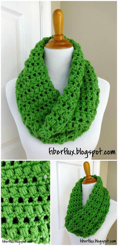 Free Crochet Cilantro Cowl Pattern