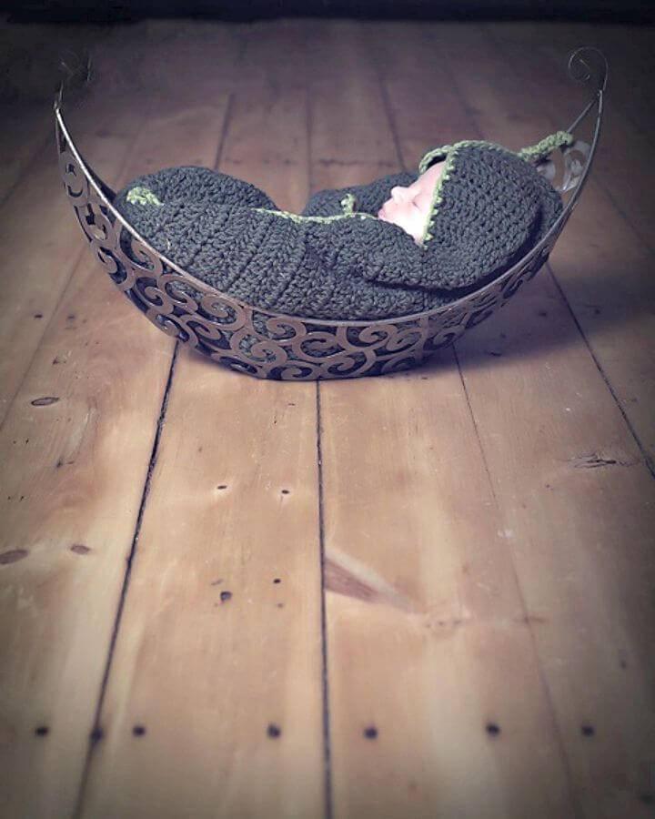 Easy Free Crochet Pea Pod Cocoon Pattern
