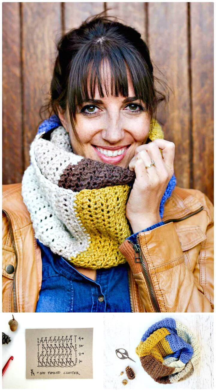 How To Free Crochet Piece Of Cake Cowl With Caron Cakes Yarn Pattern