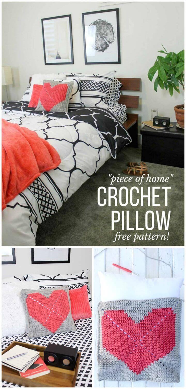 Easy Free Crochet Pillow Heart Pattern