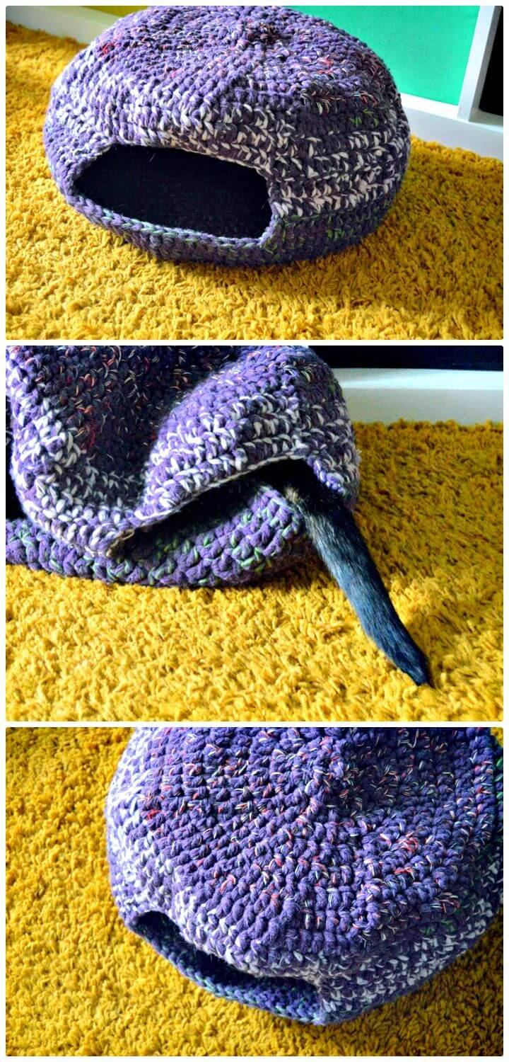 Free Crochet Pixie Cat Cave Or Bed Pattern