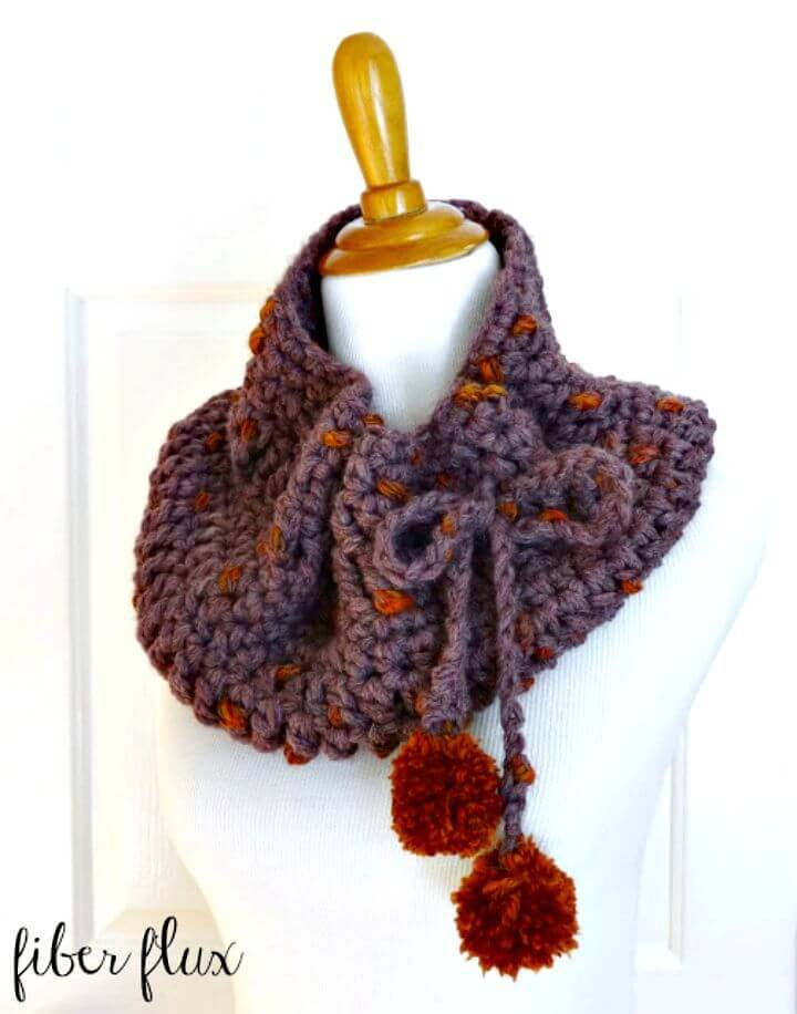 Free Crochet Plum Skies Cowl Pattern