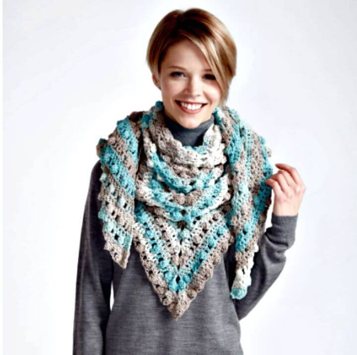 How To Free Crochet Point Crochet Shawl – Caron Cakes Pattern