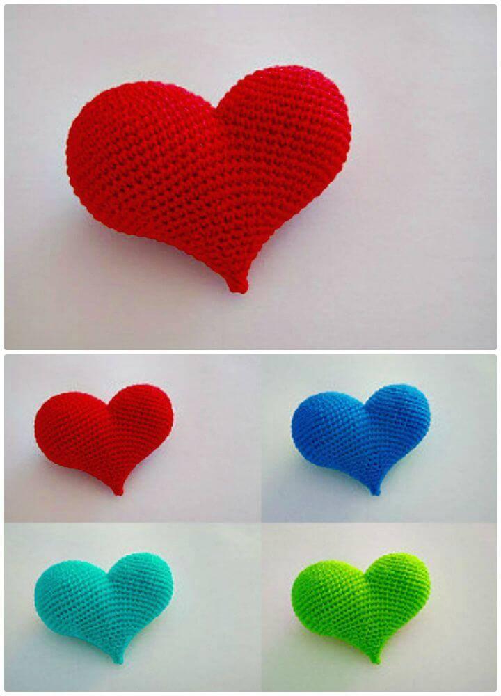 Easy Free Crochet Pop Heart Pattern