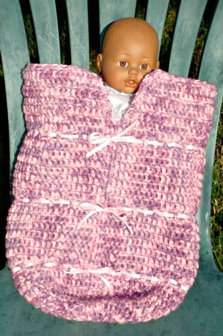 Easy Free Crochet Pretty Baby Cocoon Pattern