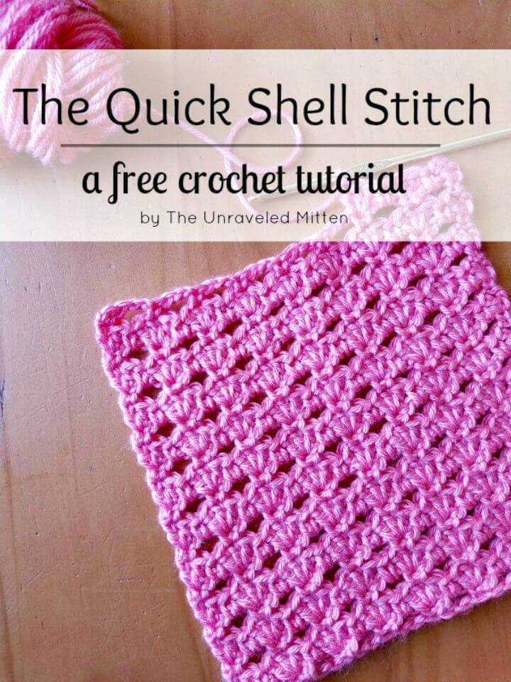 How To Crochet Quick Shell Stitch - Free Pattern
