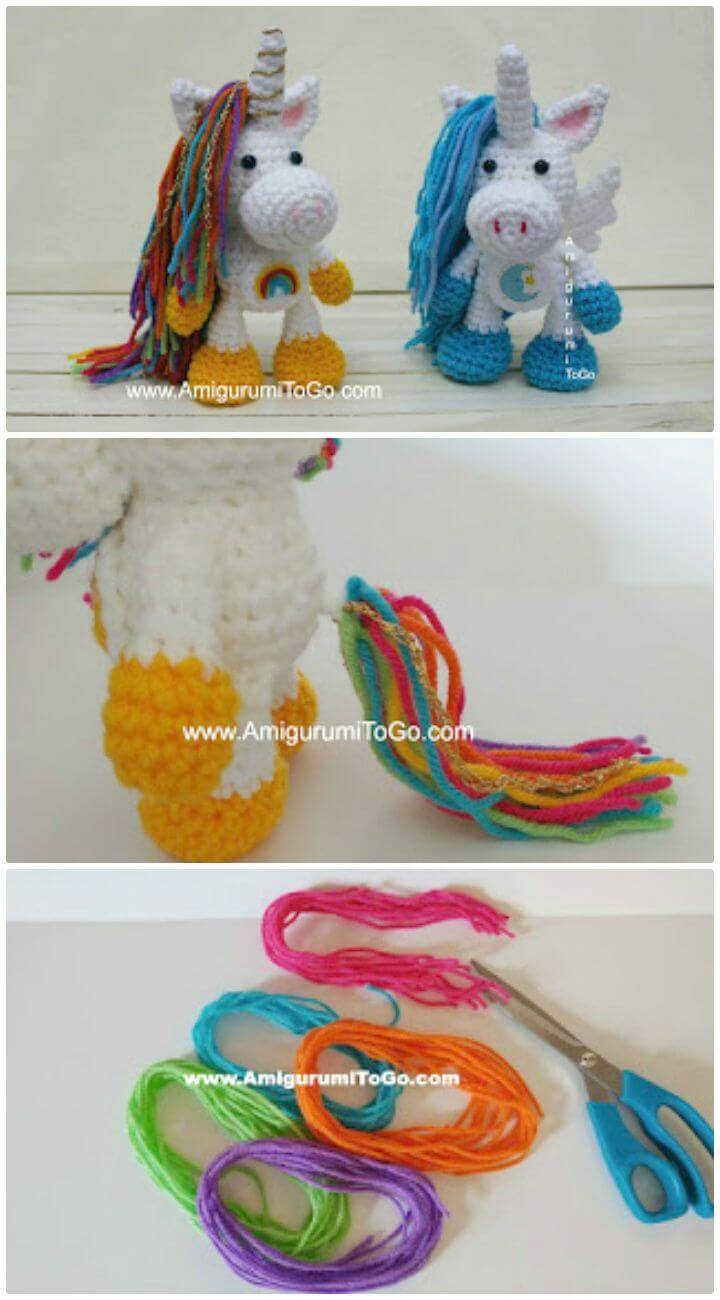 Free Crochet Rainbow Sprinkles The Unicorn Pattern
