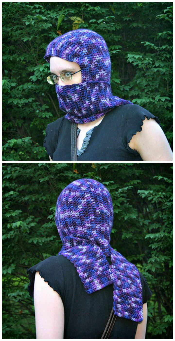 Easy Free Crochet Seamless Hooded Scarf Pattern