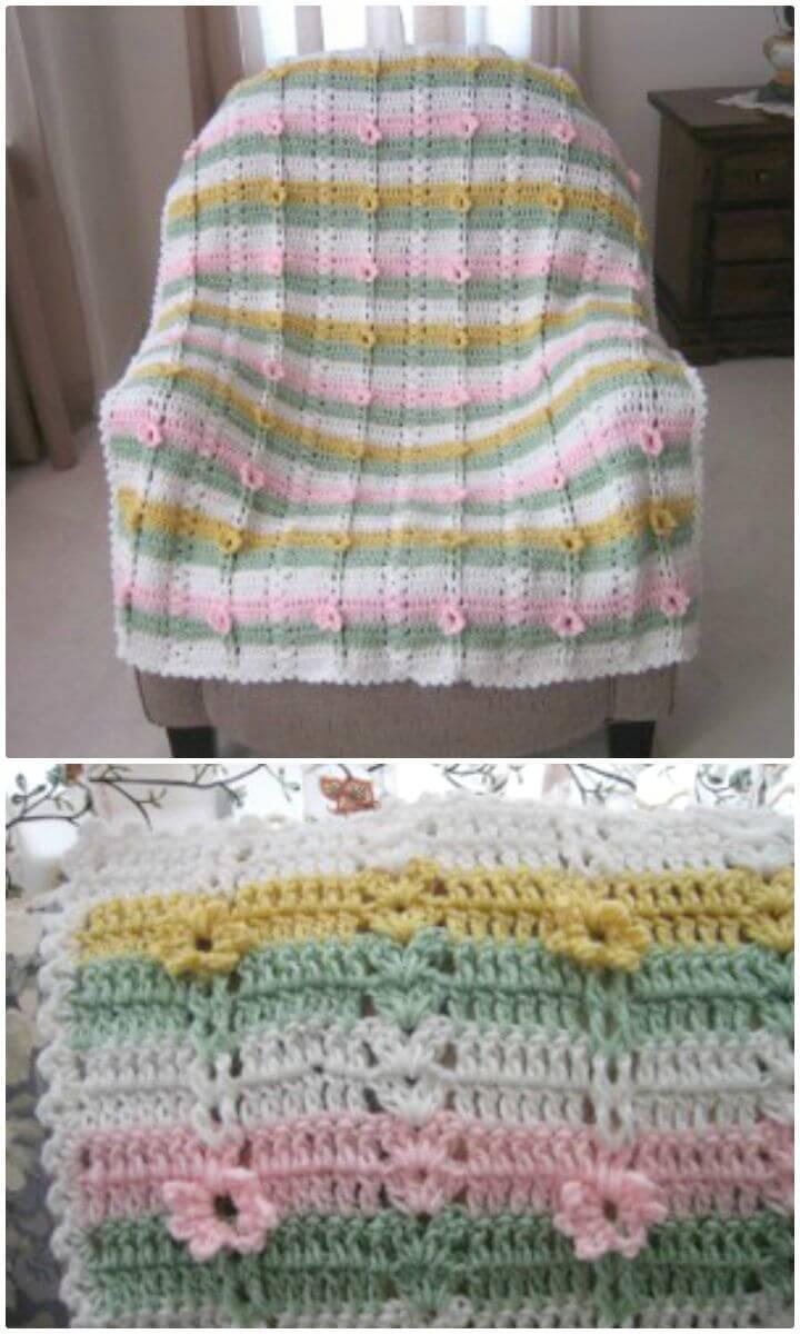 Easy Free Crochet Secret Garden Afghan Pattern And Tutorial