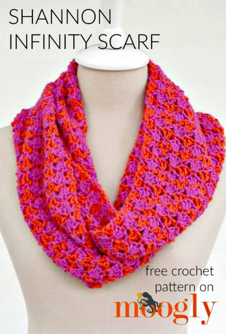 Crochet Infinity Scarf 74 Free Crochet Scarf Patterns Diy Crafts