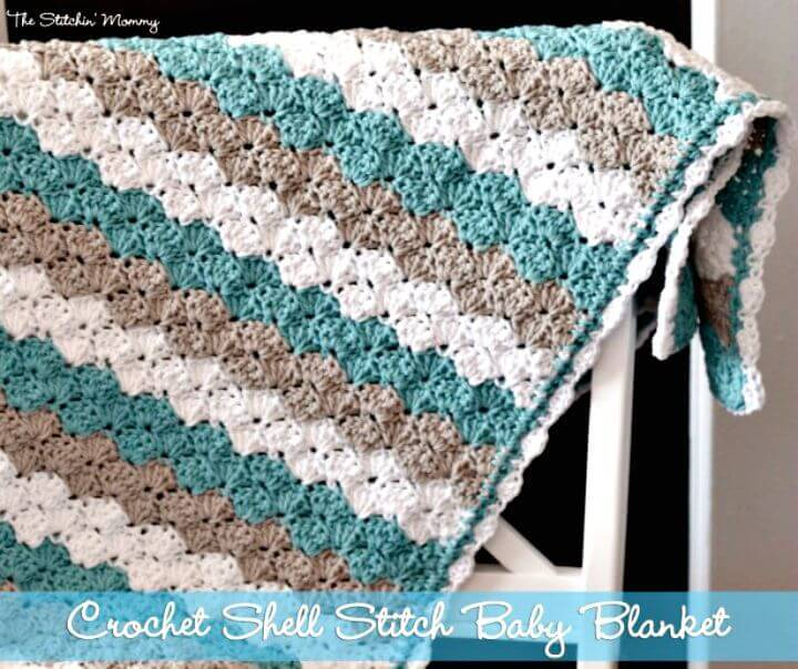 How To Crochet Shell Stitch Baby Blanket - Free Pattern