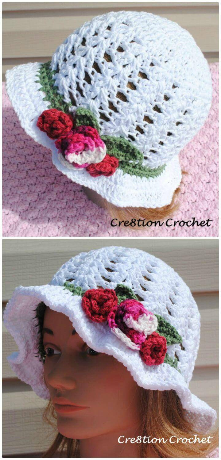 Crochet Shell Stitch Cotton Hat - Free Pattern
