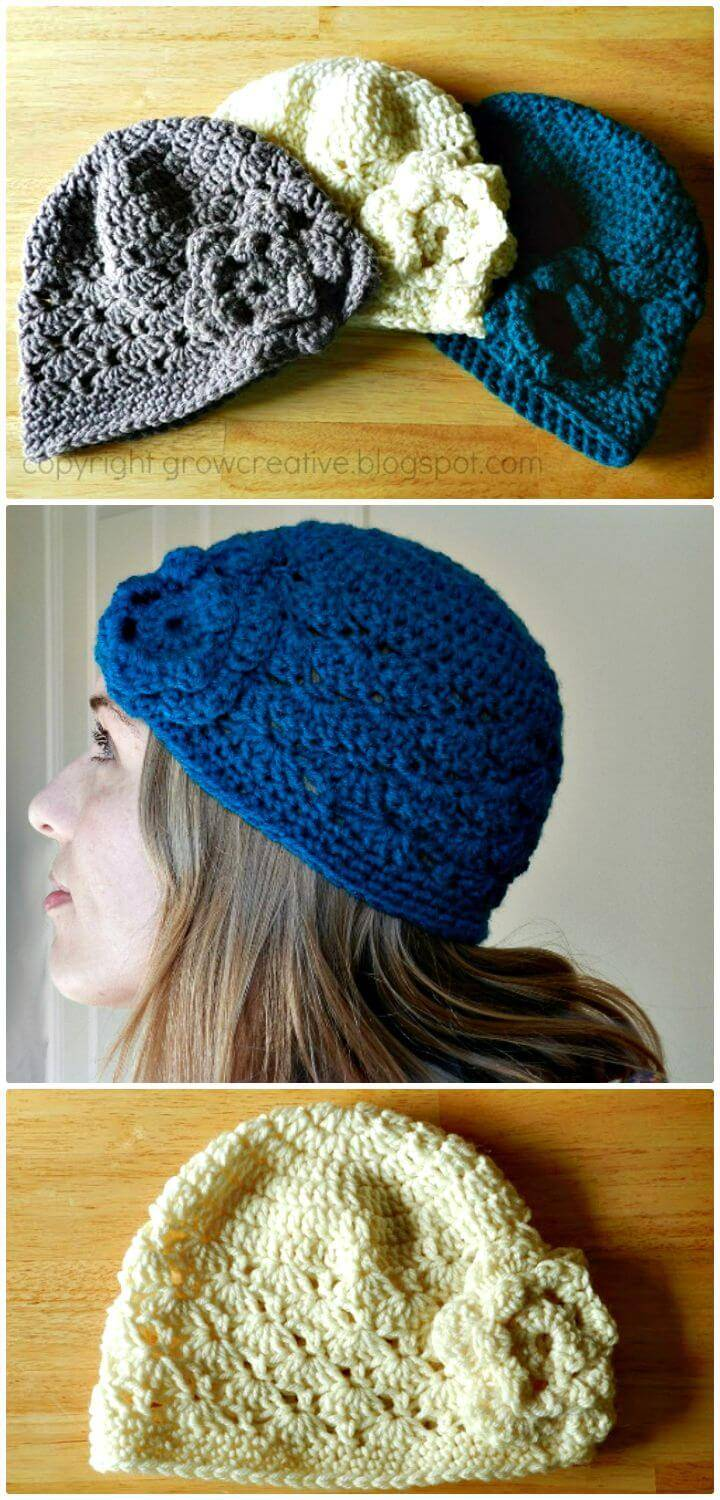 How To Crochet Shell Stitch Hat - Free Pattern