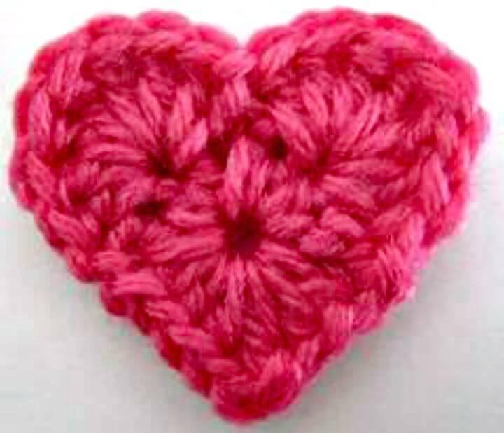 Free Crochet Small Heart Pattern