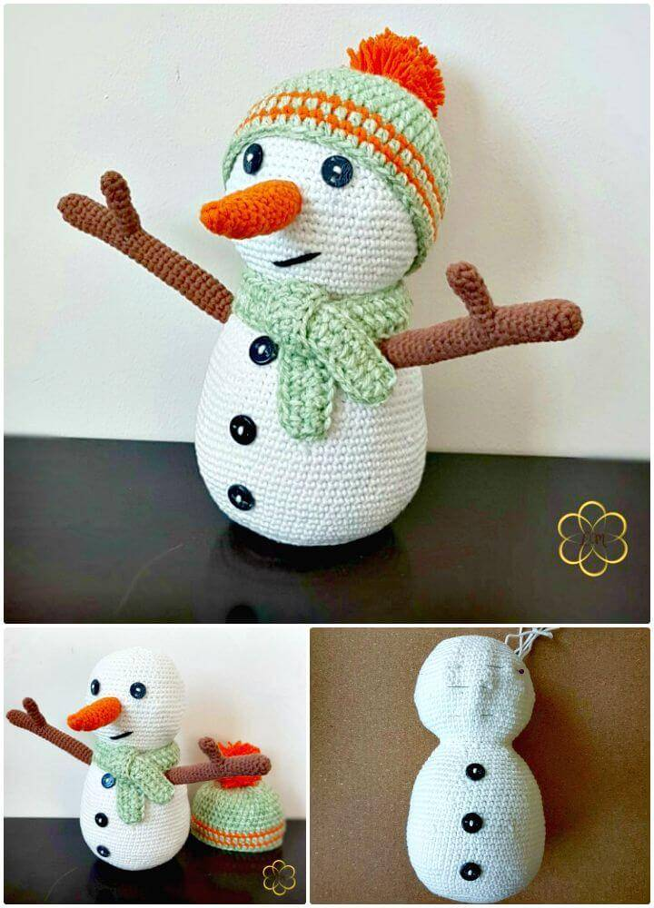Free Crochet Snowman Amigurumi Pattern