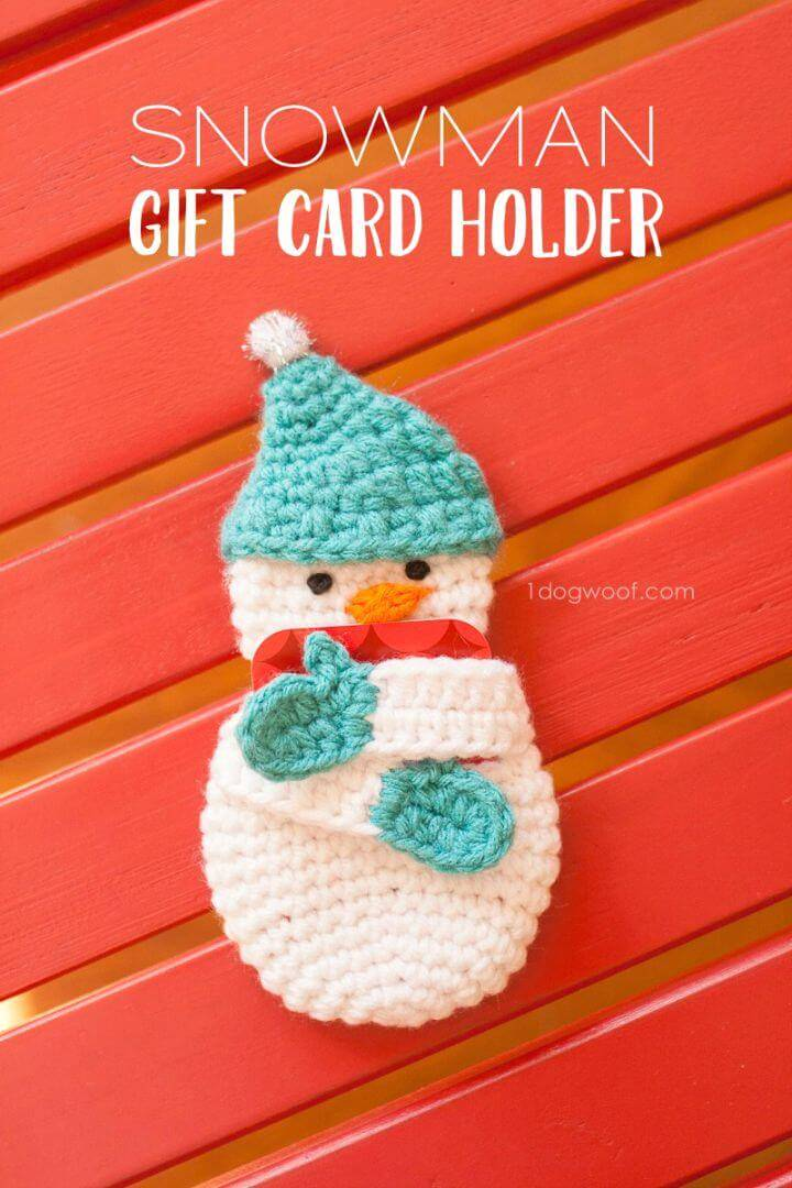 Free Crochet Snowman Gift Card Holder Pattern