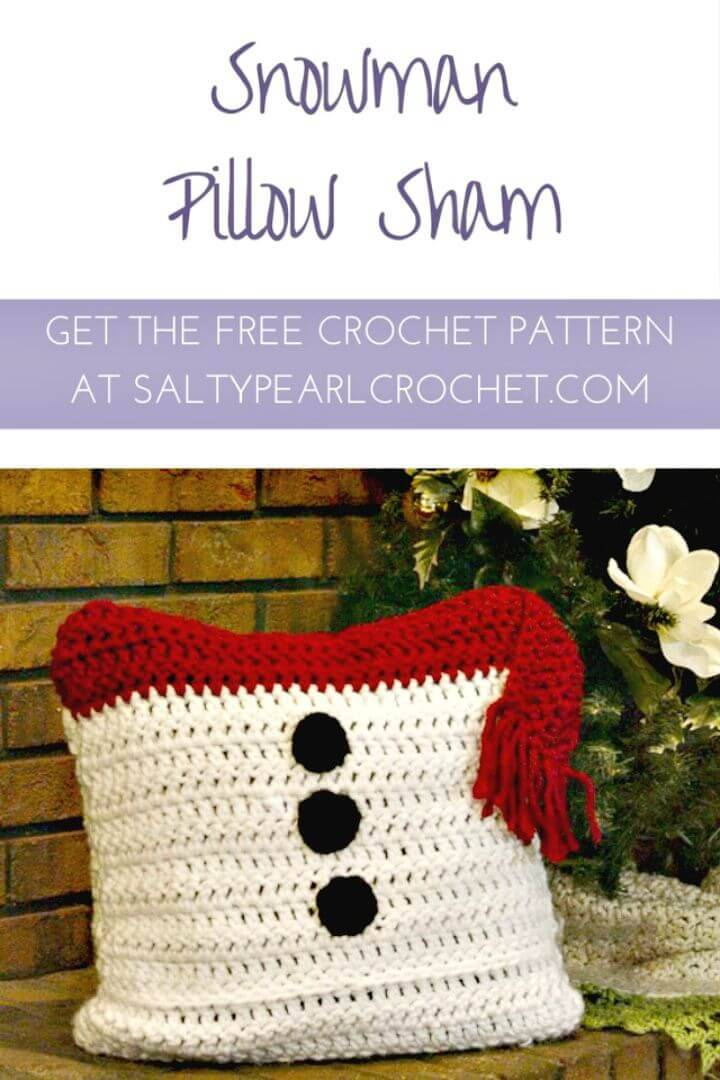 Free Crochet Snowman Pillow Sham Pattern