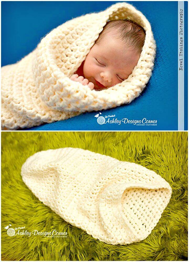 Easy Free Crochet Snuggle Bug Cocoon Pattern